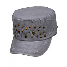Keps Skull star grey