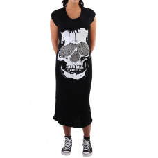 Beach dress Skull Black