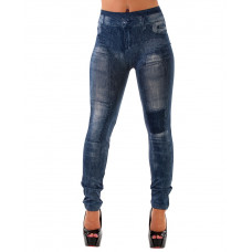 Leggings Jeanslook Patch