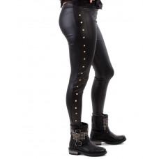 Leggings Goldbutton Black