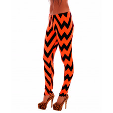 Leggings Orange Zick Zack