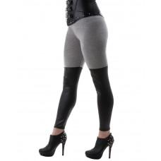 Leggings Grey Wetlook