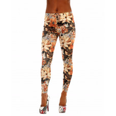 Leggings Orange Flowers