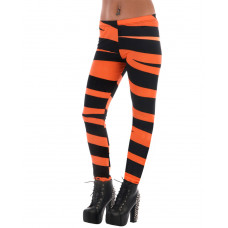 Leggings Black & Orange