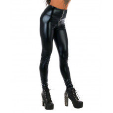 Leggings Black Wetlook
