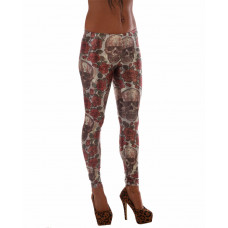 Leggings Rose Skull