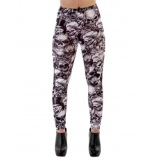 Leggings Skull Fashion Black L
