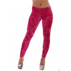 Leggings Plysch Pink