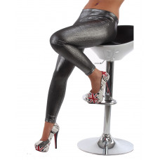Leggings Silver metallic