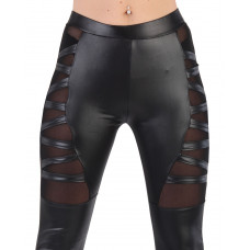 Leggings wetlook side