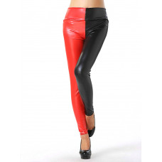 Leggings - Red and Black High Waist