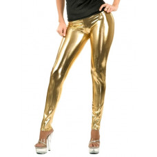 Leggings - Wet Look Gold