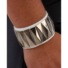 Armband Läder vit