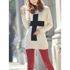 White Cross Pullover