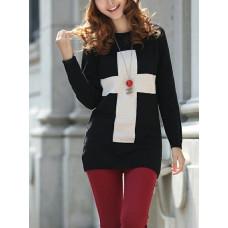 Black Cross Pullover