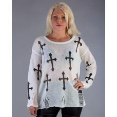 Tröja Transparetn cross W