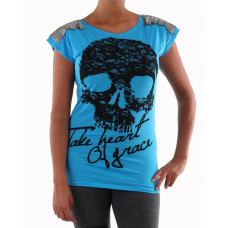 Tröja Skull shoulder blue