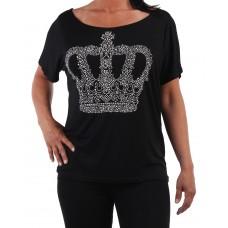 Oversize tröja Kronan Svart