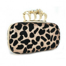 Clutch leopard Blue Stone