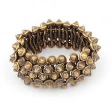 Armband -  Dirty Spikes Brons